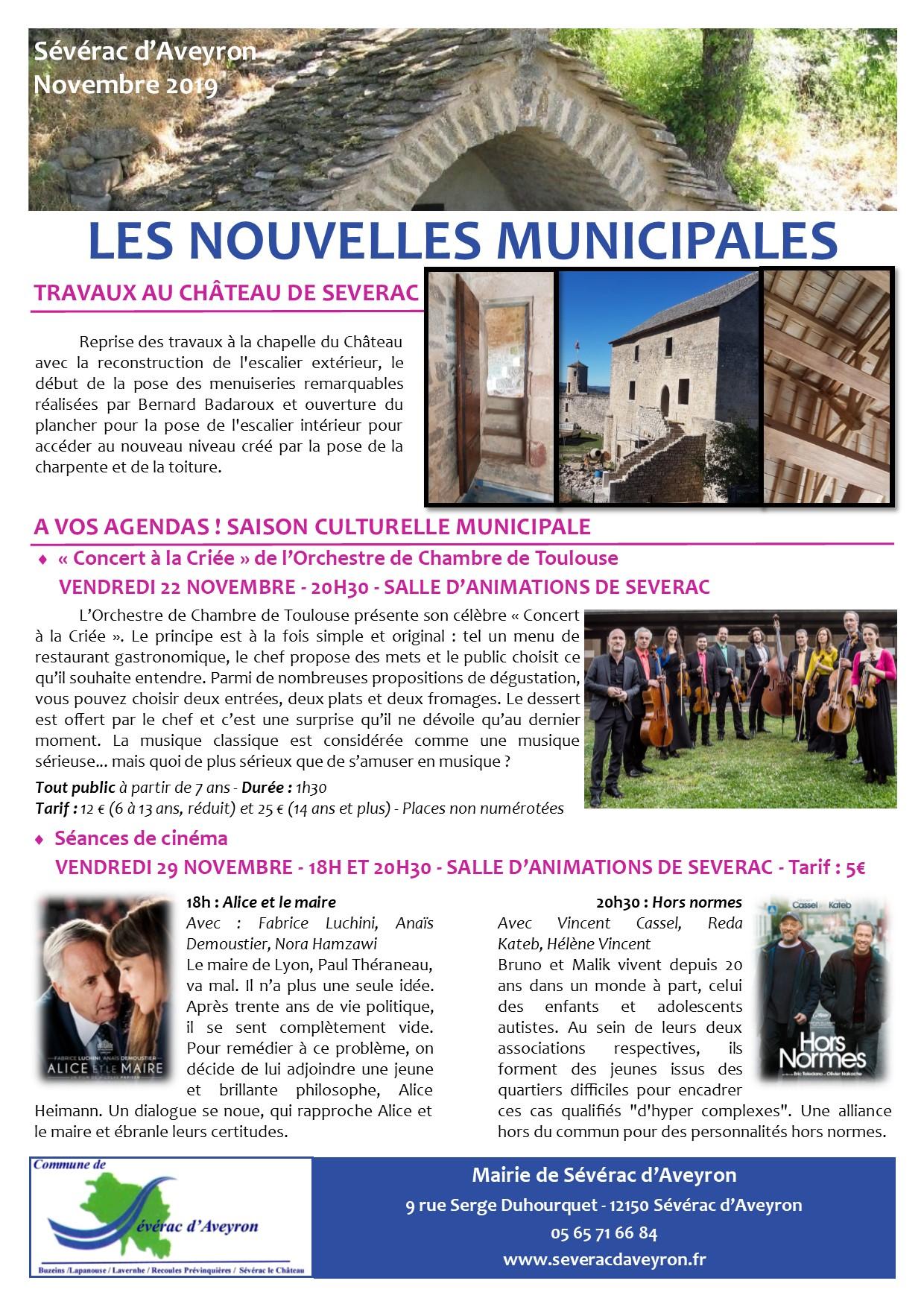 Newsletter 11 - Novembre 2019