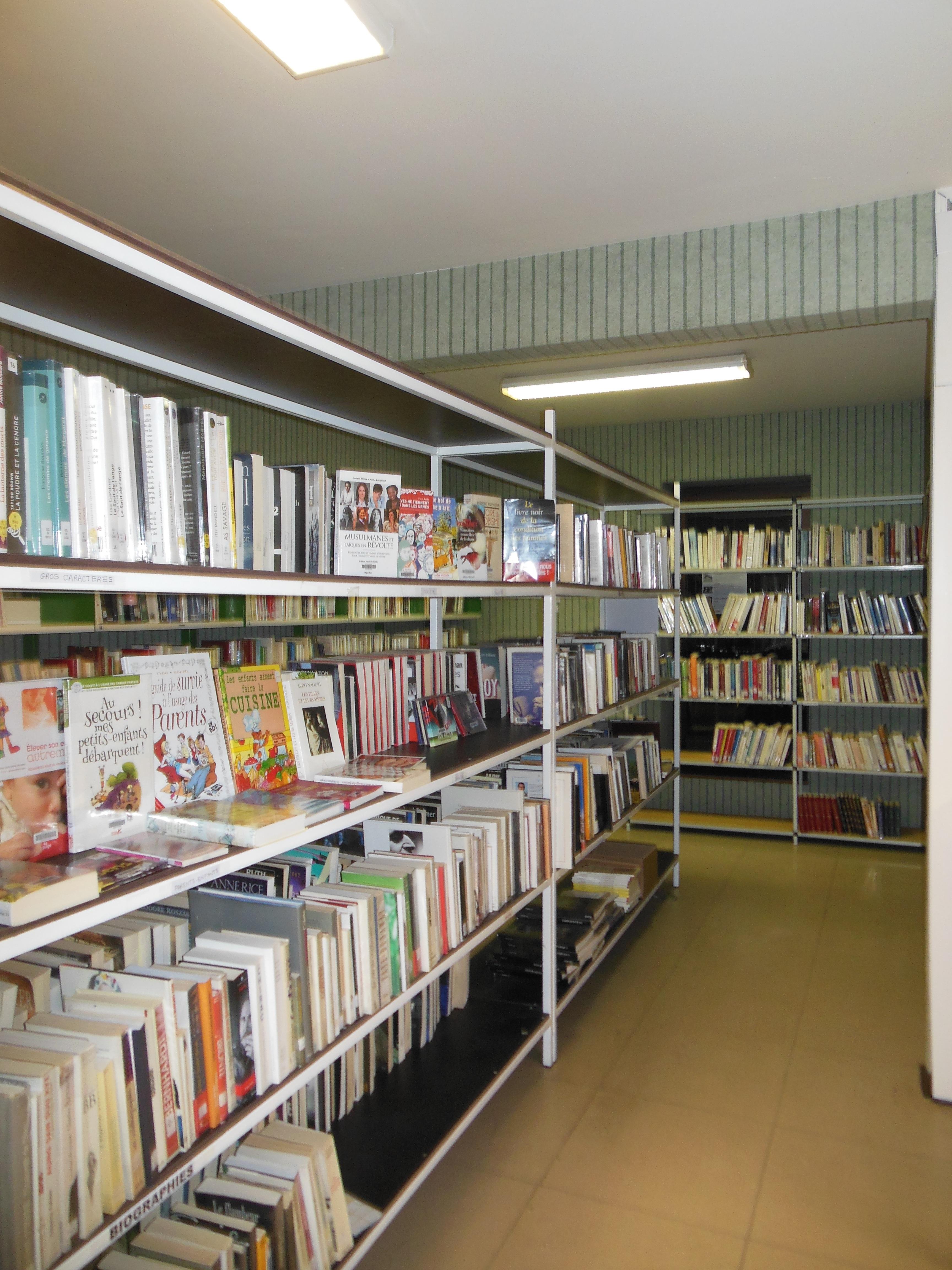 Bibliothèque espace adulte