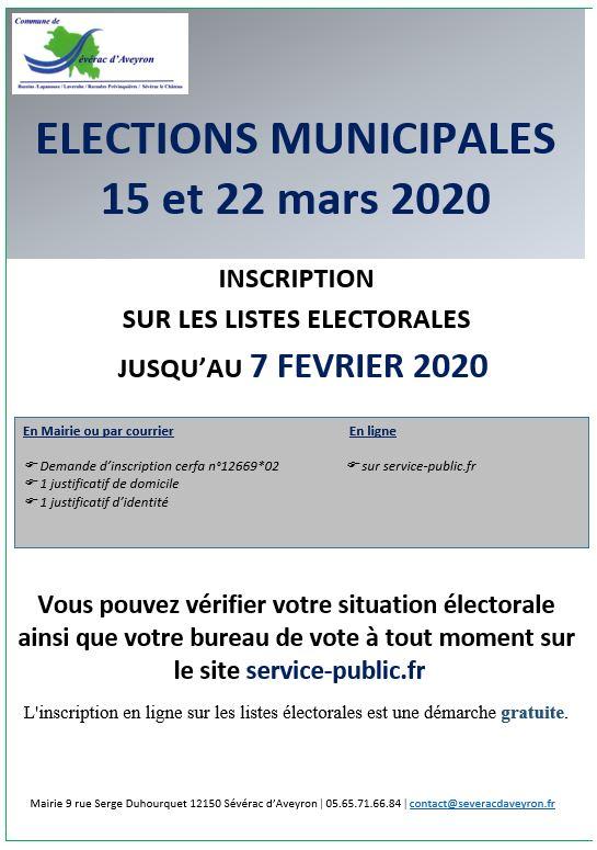Élections municipales du 15 et 22 mars 2020
