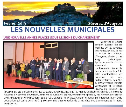 Newsletter de la mairie de Sévérac d'Aveyron de février 2019