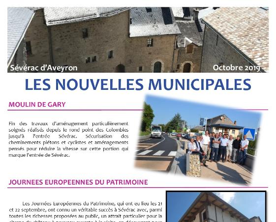 Newsletter de la mairie de Sévérac d'Aveyron d'octobre 2019