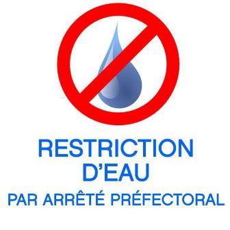 resctriction de l'eau - niveau 2
